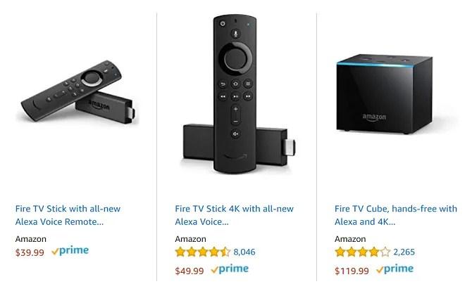 amazon fire tv devices cost comparison
