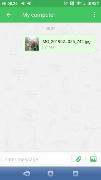 muo android filesync airdroid send