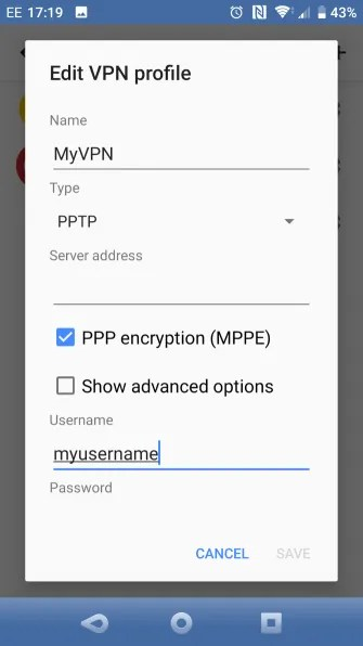 set up VPN on Android