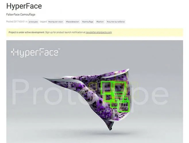 Avoid Facial Recognition - HyperFace