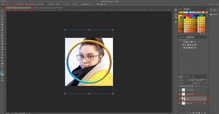 How to Make Digital Photo Frame Photoshop Drag Picture