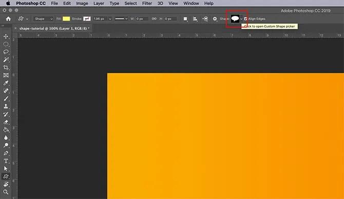 How to Use Custom Shape Tool Photoshop Choose New Shape