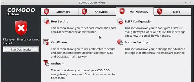 linux antivirus comodo antivirus