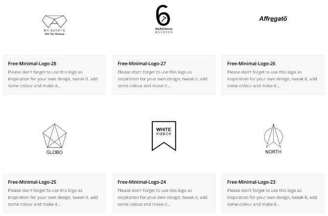 freeminimallogos واحد من أفضل مواقع تصميم شعارات