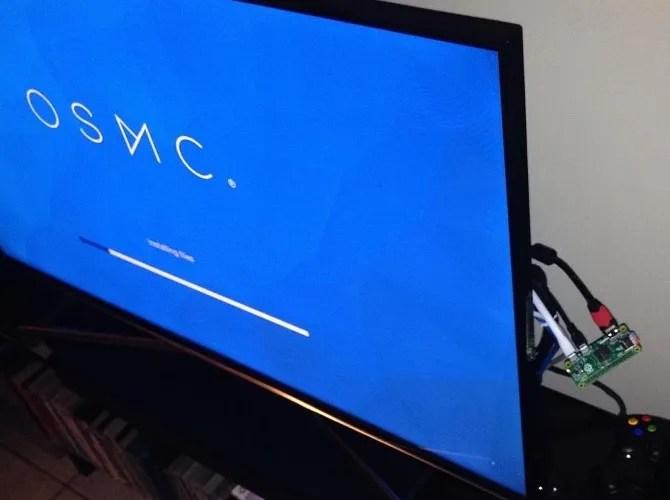 OSMC ejecutándose en una Raspberry Pi Zero