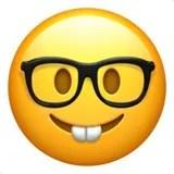 geek glasses emoji emoticon