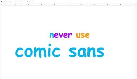 Never Make Design Mistakes in Slideshow Comic Sans