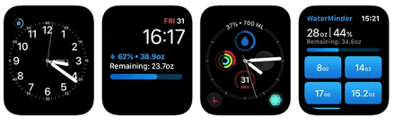 Apple Watch Complications WaterMinder App