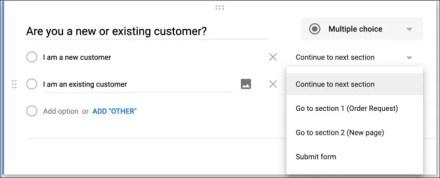 Logic Branching Google Forms