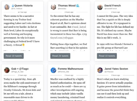 Thread Reader app makes it easier to read Twitter threads and discover tweetstorms