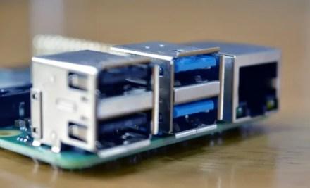 USB ports on the Raspberry Pi 4