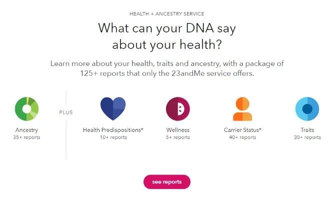 23andme health DNA testing