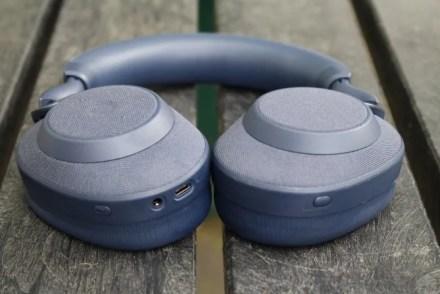 Jabra Elite 85h Headphones on a picnic table
