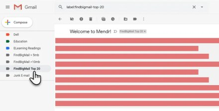 Using Find Big Mail for Sorting Gmail Attachments