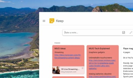 Google Keep running on Chrome OS on the Raspberry Pi
