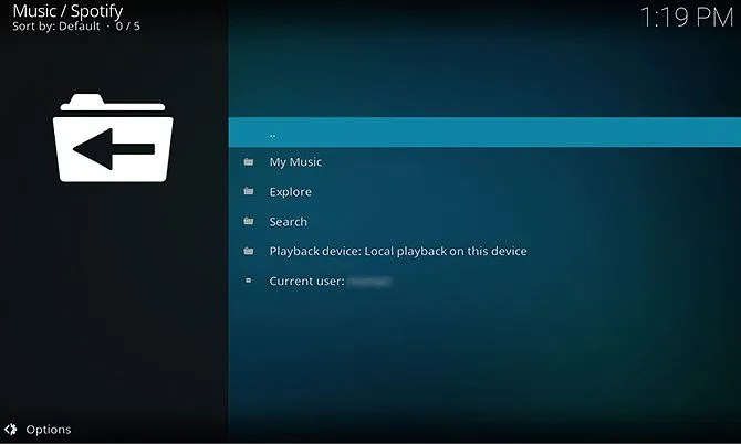 Spotify addon for Kodi