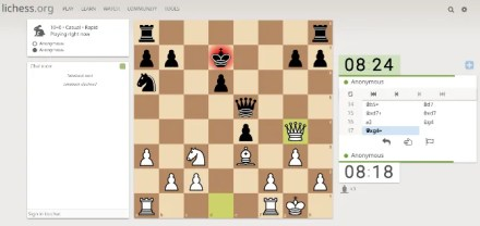 Lichess is still the best free online chess game for browsers to have a quick match against a friend or a random opponent