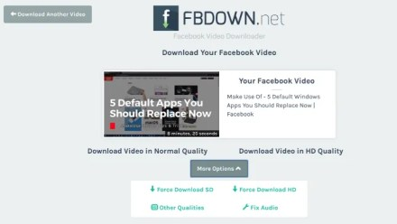 FBDown.net is the easiest app to download and save Facebook videos to your hard drive
