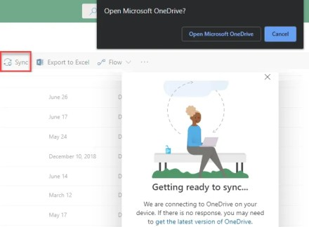 Microsoft SharePoint Sync to OneDrive