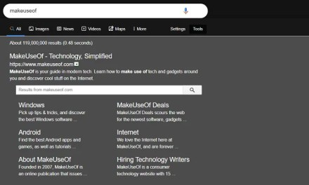 Night Mode For Google Search example page