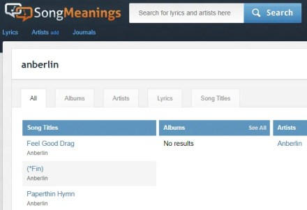 SongMeanings Site Search