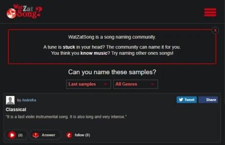 WatZatSong Site