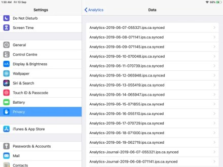 access the analytics data of iOS apps