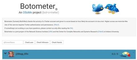 botometer bot analysis tool