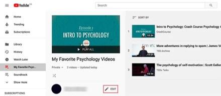 Edit Your YouTube Playlist