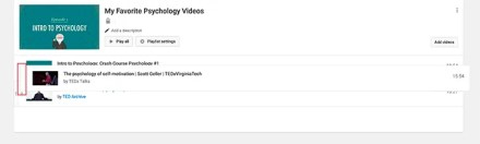 Manually Move Around the Videos on Your YouTube Playlist