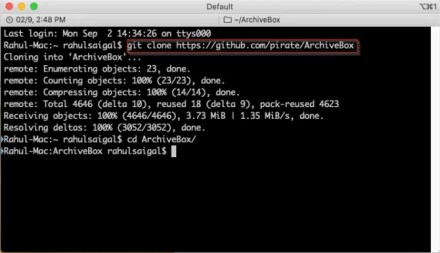 install ArchiveBox