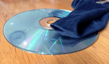 Clean your scratched CD