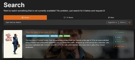 ombi homepage