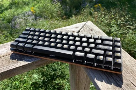 The keyboard from the top