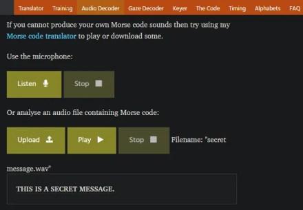 Morse Code Decoder