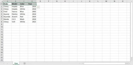 Excel Spreadsheet for Power Query