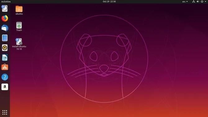 Ubuntu 19.10 рабочий стол
