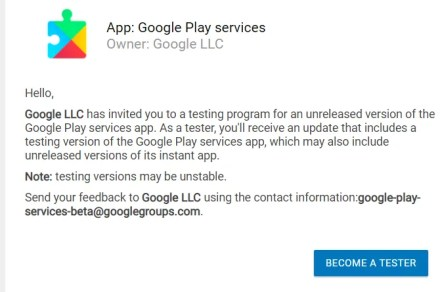 become a google play tester