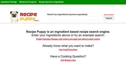 Recipe Puppy Search for Recipes