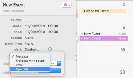 calendar event automate email