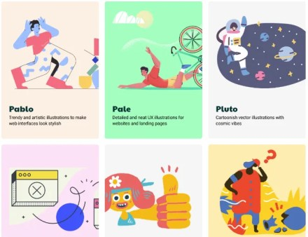 Icon8's Ouch.for free illustrations and vectors by style
