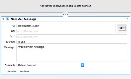 mac new mail message in automator app