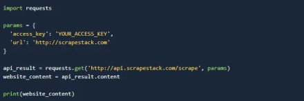 Accessing the Scrapestack API with Python