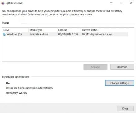 optimize drives windows defrag