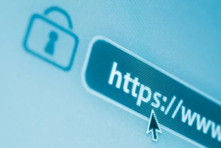 A URL secured by the HTTPS protocol