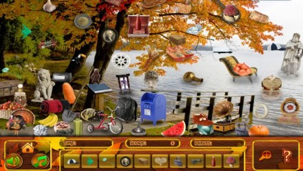 Hidden Objects Thanksgiving Puzzle iPhone