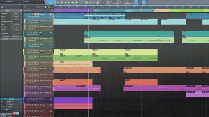 Studio One Prime has a sleek UI