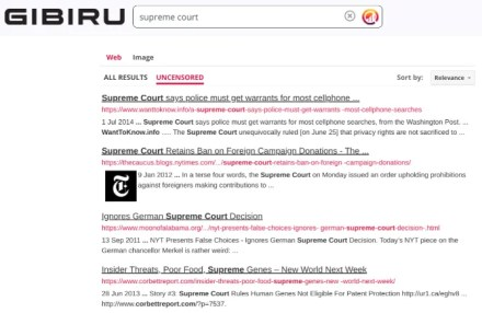Gibiru gives you Google's search results while protecting your privacy and showing uncensored results that Google won't
