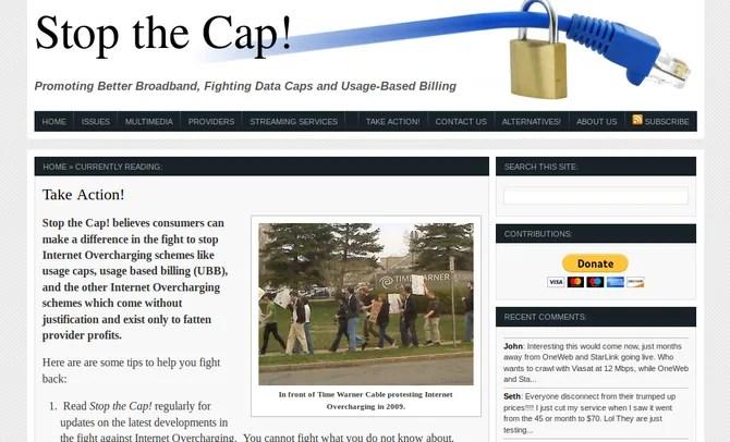 Stop the Cap website