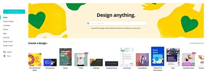 Canva Design Software бесплатно